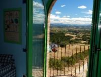 appartamento BACCO - balcone con panorama sulla Valle del Tevere